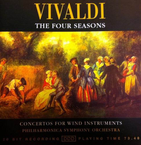 vivaldi - the four seasons. clasica. cd importado.
