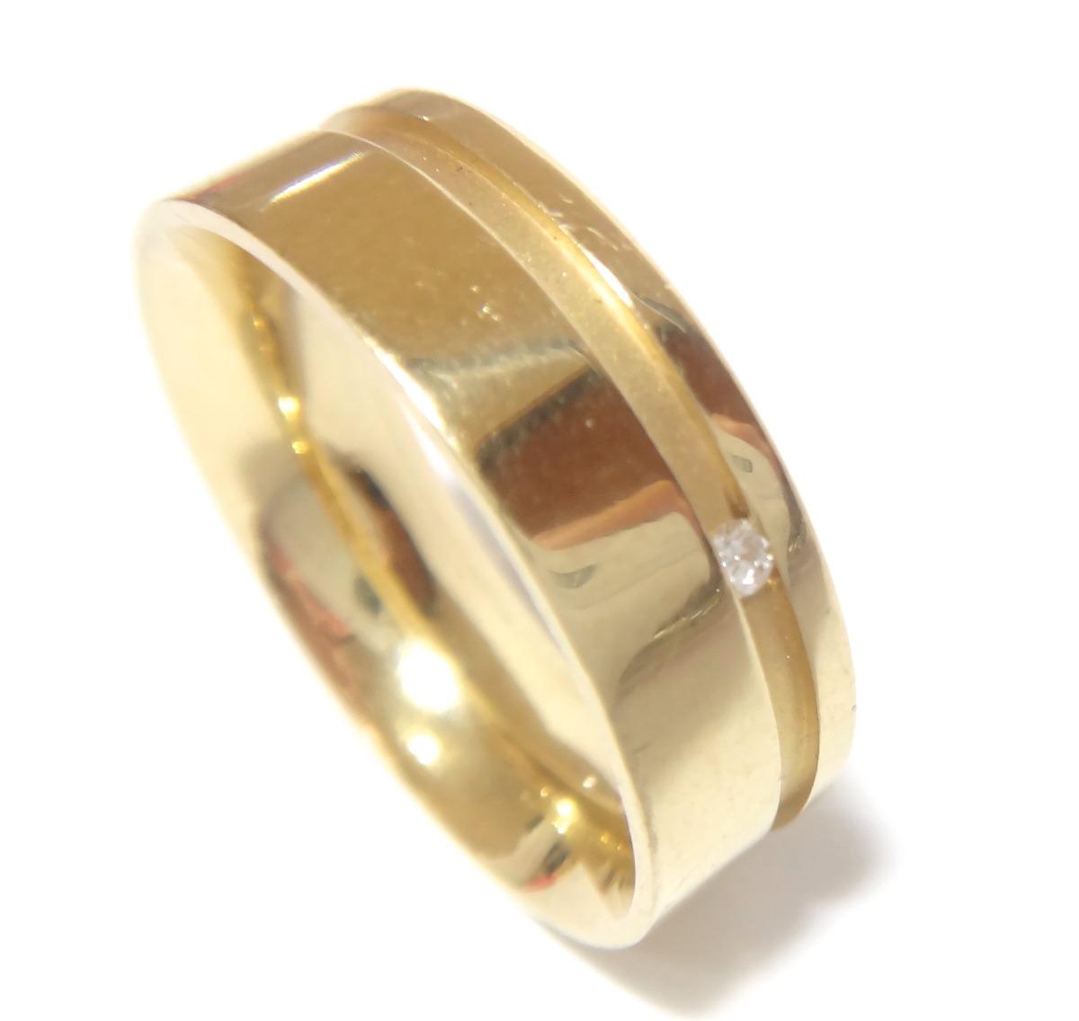 Vivara Anel Aliança Em Ouro 18k 750 E Diamante - R  1.350 d5d37be370c58