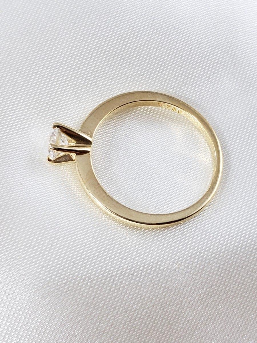 0ca2b1fc6e250 vivara anel solitário ouro amarelo com brilhante de 25 pts. Carregando zoom.