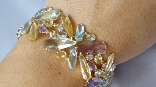 vivara pulseira rainbow ouro amarelo com pedras brasileiras!