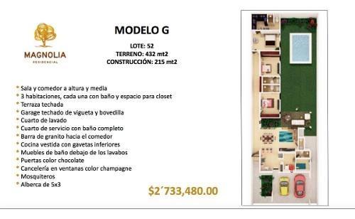 vive en privada magnolia modelo g (lote - 52)