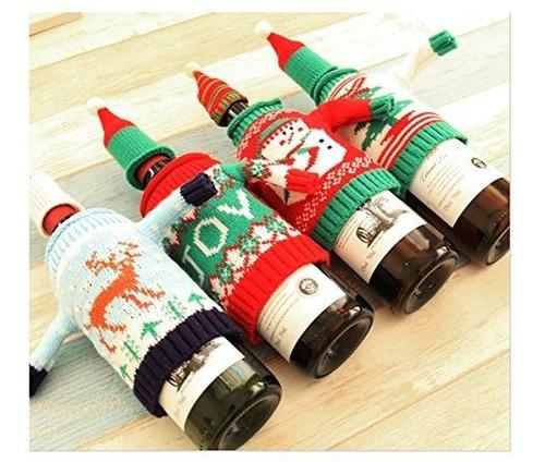 vivian navidad botella cubierta bolso vino sudaderas cobertu