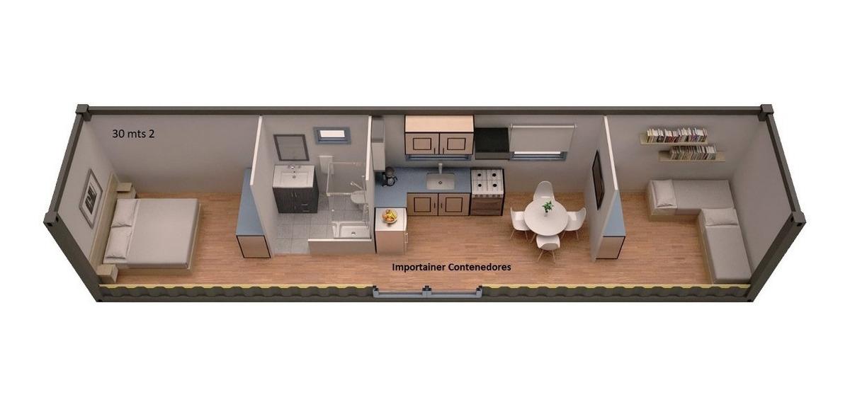 vivienda modular casa contenedor 2 habitaciones (30