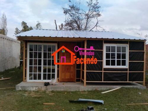 viviendas facundo, prefabricadas, cabañas, casillas, maderas