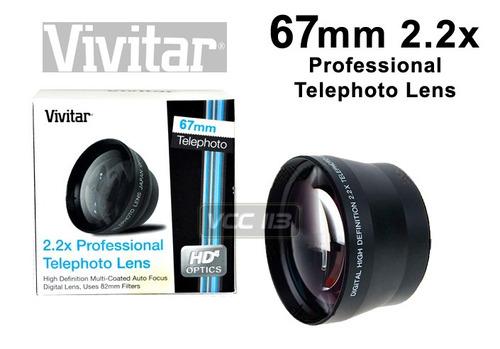 vivitar lente telefoto 2.2x -67mm