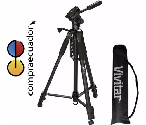 vivitar trípode para cámaras filmadoras profesionales 1.60mt