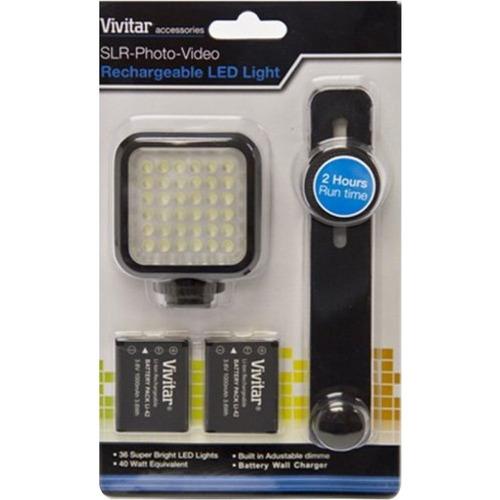 vivitar viv-vl-400slr / foto / vídeo led recargable luz