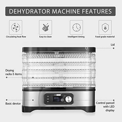 vivohome deshidratador de alimentos automatico digital 400 w