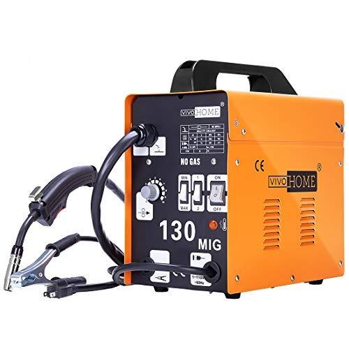 vivohome portable flux core wire no gas mig 130 welder machi