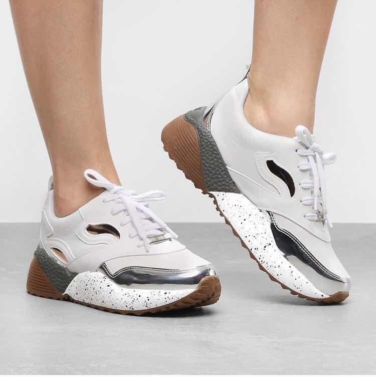0f4f6d7242 tênis vizzano chunky plataforma metalizado feminino - branco · vizzano  plataforma feminino