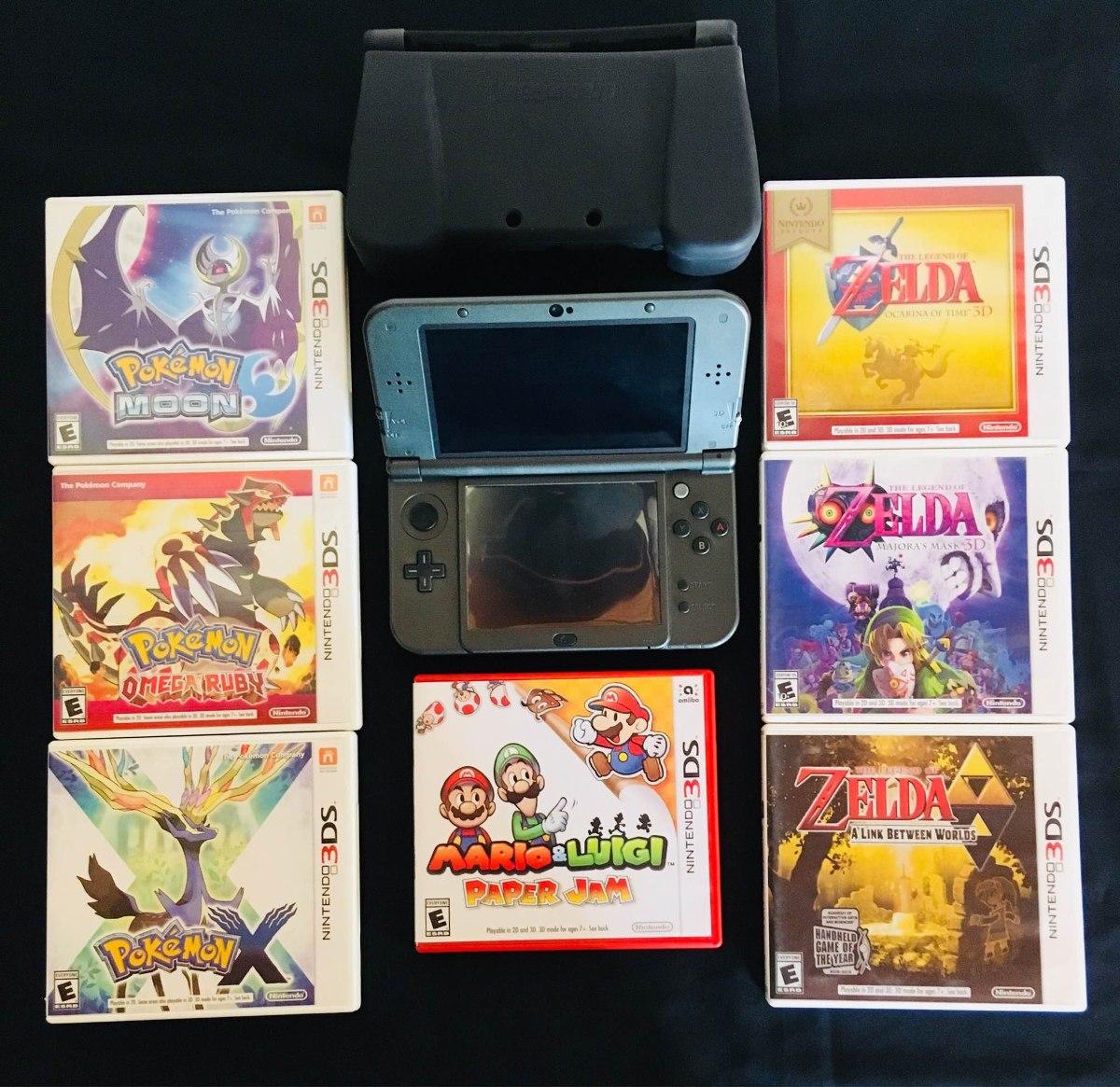 Vj New Nintendo 3ds Xl Plastico Contra Caidas 7 Juegos