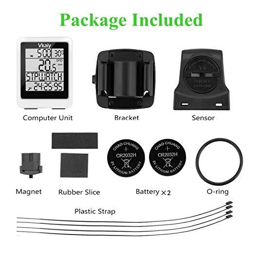 Ordenador para Bicicleta con Gran Pantalla LCD Vkaiy Ciclocomputador Sensor 3D Distancia//Tiempo// Temperatura de Seguimiento Incorporado Cuentakil/ómetros IPX6 Impermeable Multifuncional