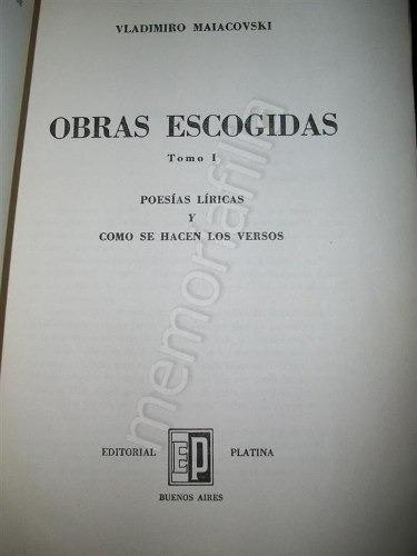 vladimiro maiacovski obas escogidas 1957 tomo 1