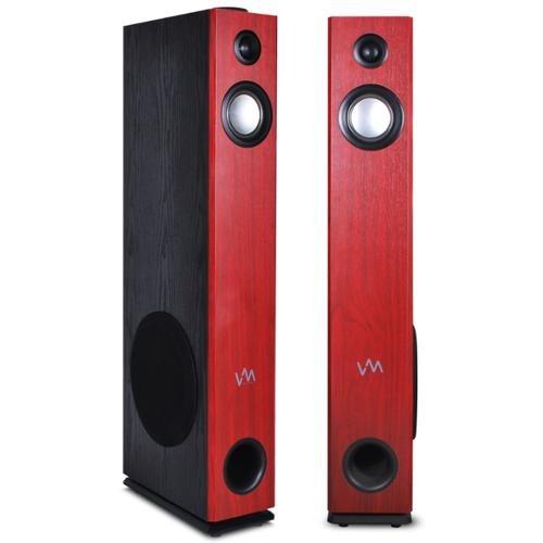 vm exat10 audio cereza/negro altavoz alimentado par de