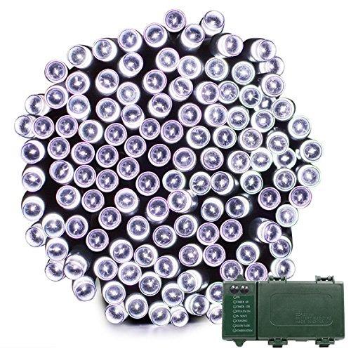 vmanoo batería al aire libre luces de cuerda 200 led de had