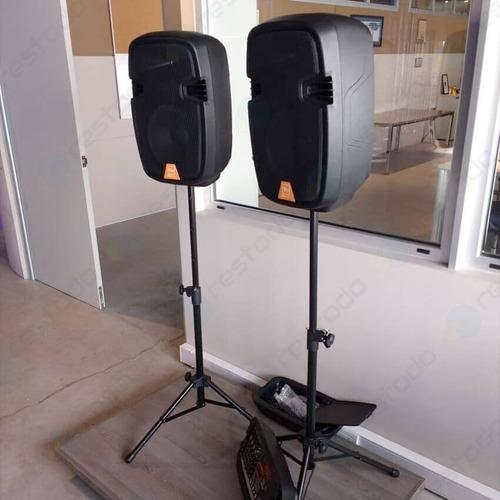 vmr pak-8010d consola bluetooth usb bafles 2 trípodes 2 micrófonos karaoke