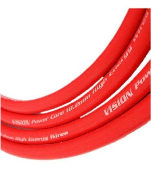 Vms Racing Ignition Spark Plug Wires En Rojo Compatible Con on