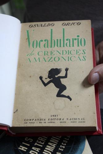 vocabulário de crendices amazônicas - osvaldo orico