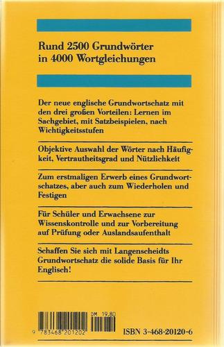 vocabulario del alemán por temas. alemán inglés. langensche.
