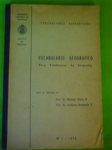vocabulario geográfico para estudiantes de geografía