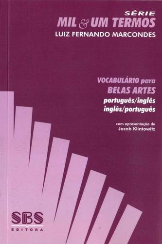 vocabulário para belas artes - português/inglês - inglês