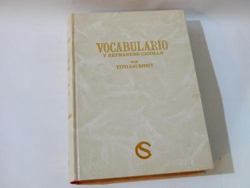 vocabulario y refranero criollo por tito saubidet