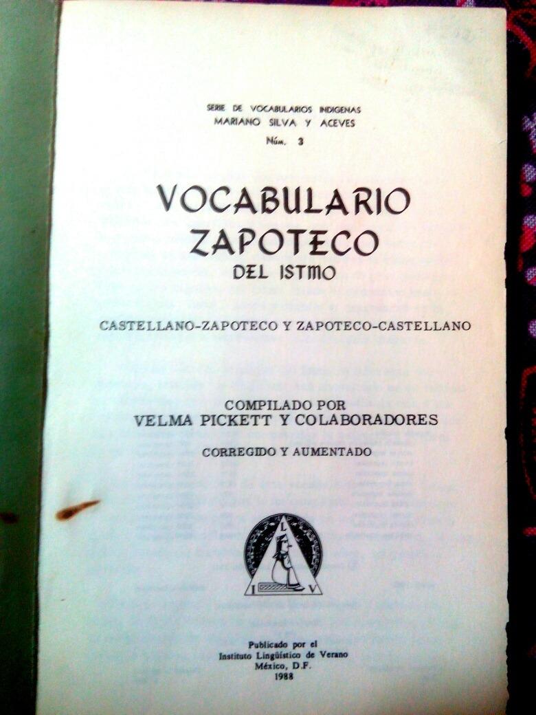 Vocabulario Zapoteco Del Istmo Oaxaca Diccionario Codice 280 00