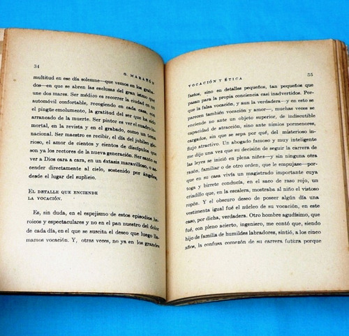 vocación y etica gregorio marañón zig zag chile antiguo