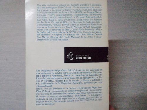 voces y expresiones argentinas (félix coluccio)