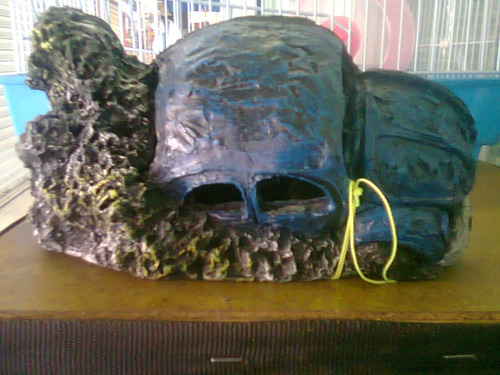 vocho hundido  decoracion para peceras de resina daa