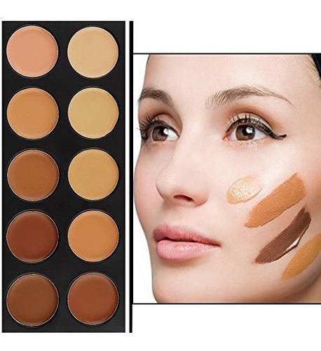 vodisa 10 color corrector de maquillaje palette-cream contou
