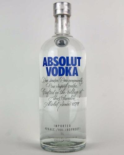 vodka absolut - 4 unidades