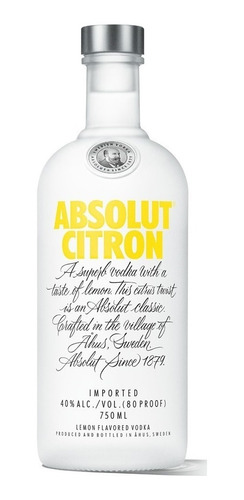 vodka absolut citron importada envio gratis en caba