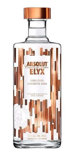 vodka absolut elix botellon de litro edicion limitada