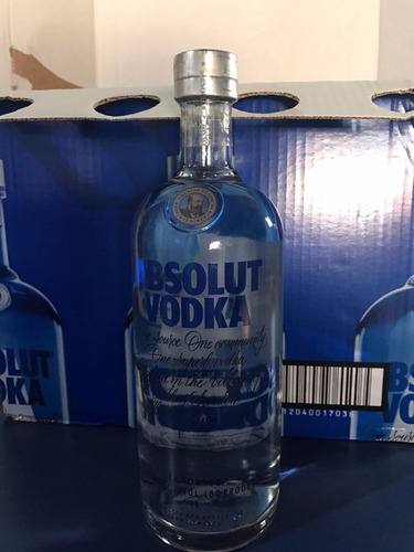 vodka absolut natural 1 litro 1000ml original c/ dosador
