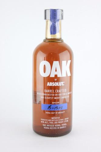 vodka absolut oak 375ml rara importada - lacrada