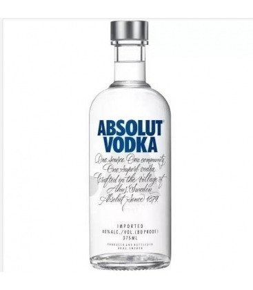 vodka absolut original pack 24 x 375 cc /bbvinos