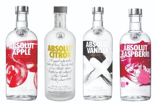 vodka absolut sabores garrafa 1litro original