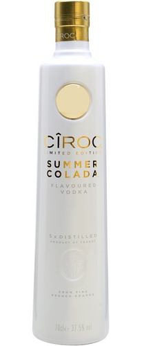 vodka ciroc summer colada 750 ml coco com abacaxi ed limited