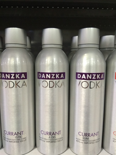 Vodka Danzka 1 Litro Alumínio Original Sabores A Escolher