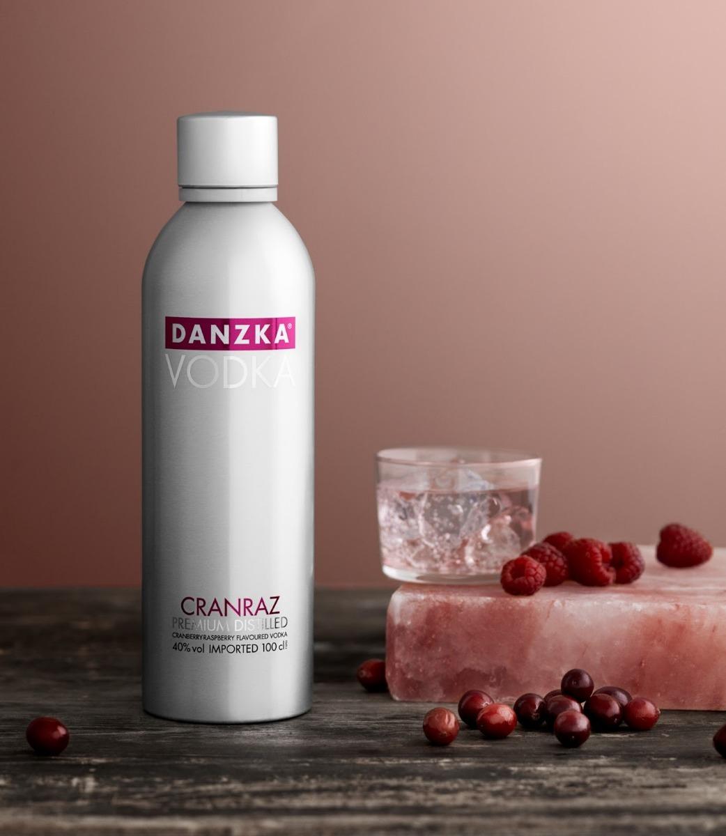 Vodka Danzka 1 Litro Garrafa Alumínio Original E Sabores !