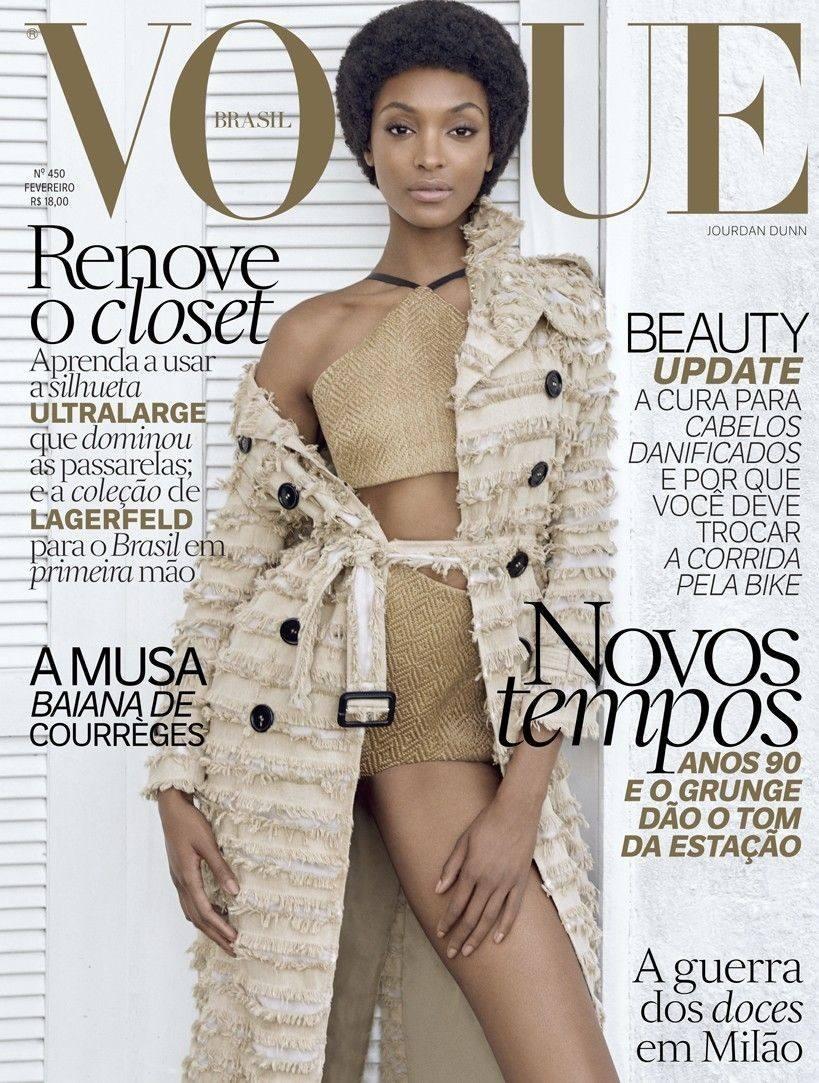 Vogue Brasil 450   Capa Jourdan Dunn - R  28,08 em Mercado Livre 64bdc02ea1