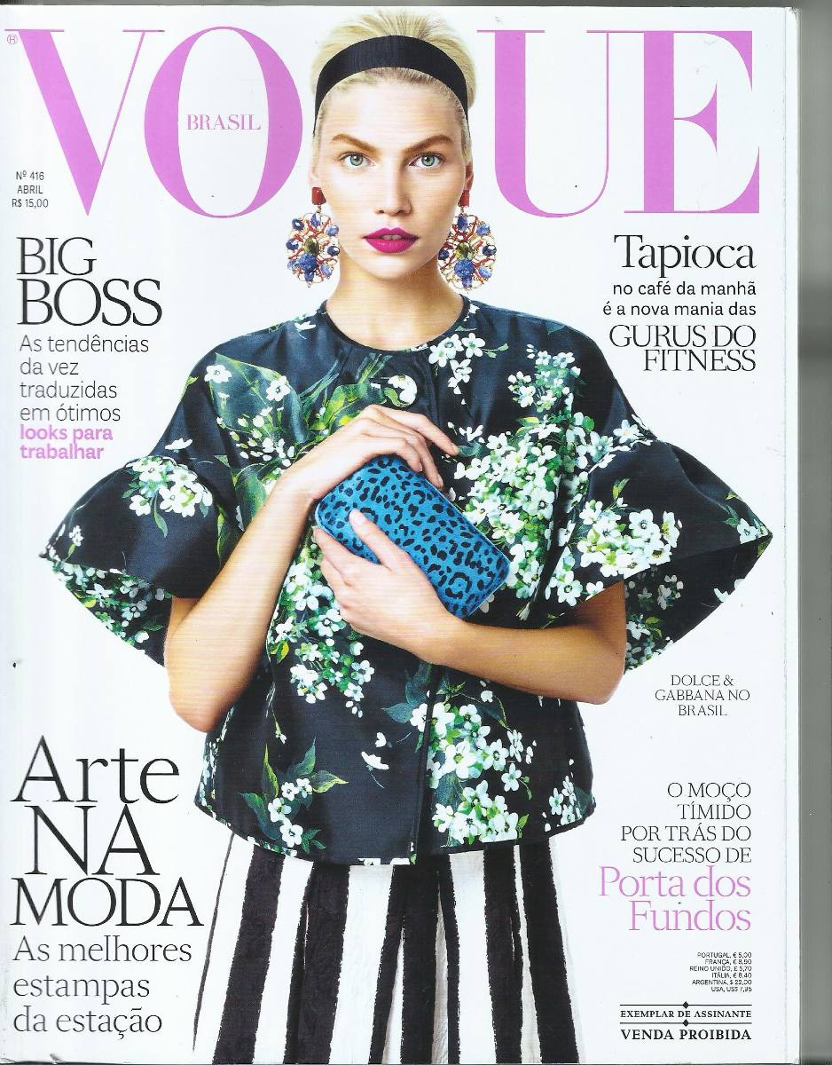 Vogue Brasil N º 416 Abril 2013 - Capa Aline Weber - R  21,68 em ... 89730b04a4