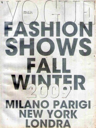 vogue * fashion shows fall winter 2009 * importada