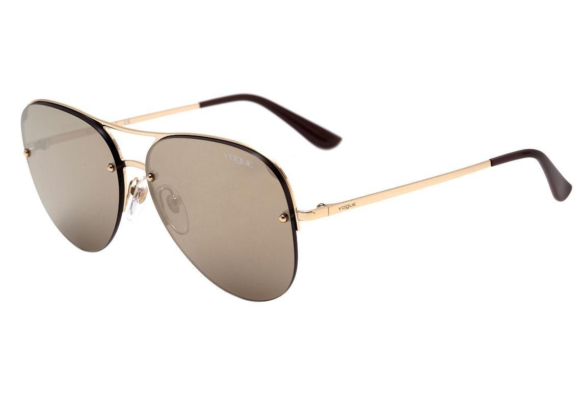 5d8b87ef9 Vogue Vo 4080 S - Óculos De Sol 848/5a Dourado Brilho/ Doura - R ...