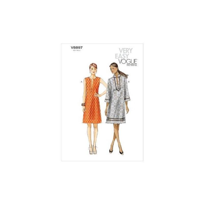 Vogue Patrones V8897 Misses Plantilla De Costura De Vestido ...