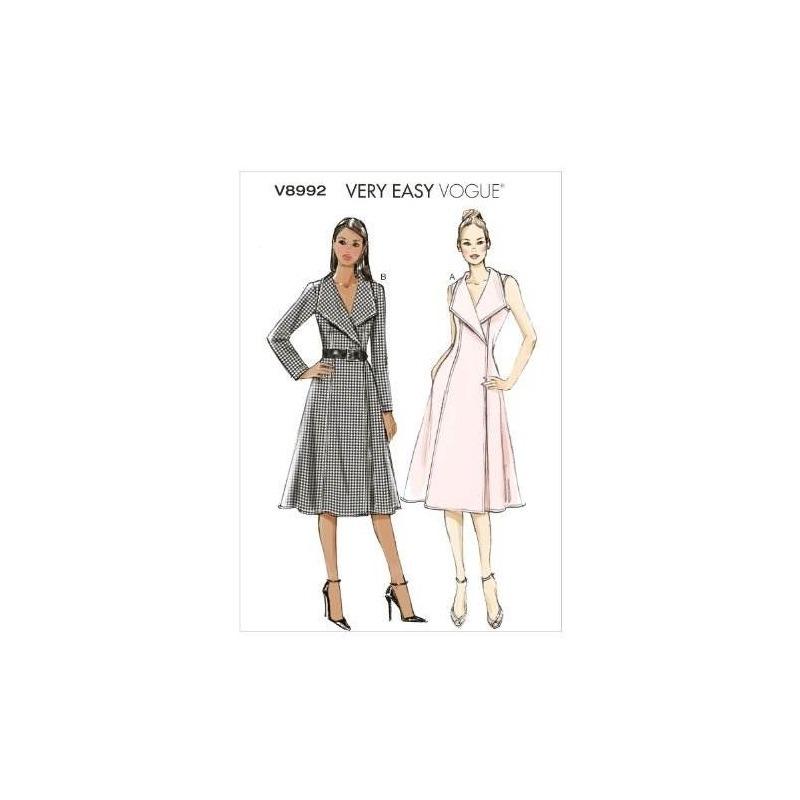Vogue Patrones V8992 Misses Plantilla De Costura De Vestido ...