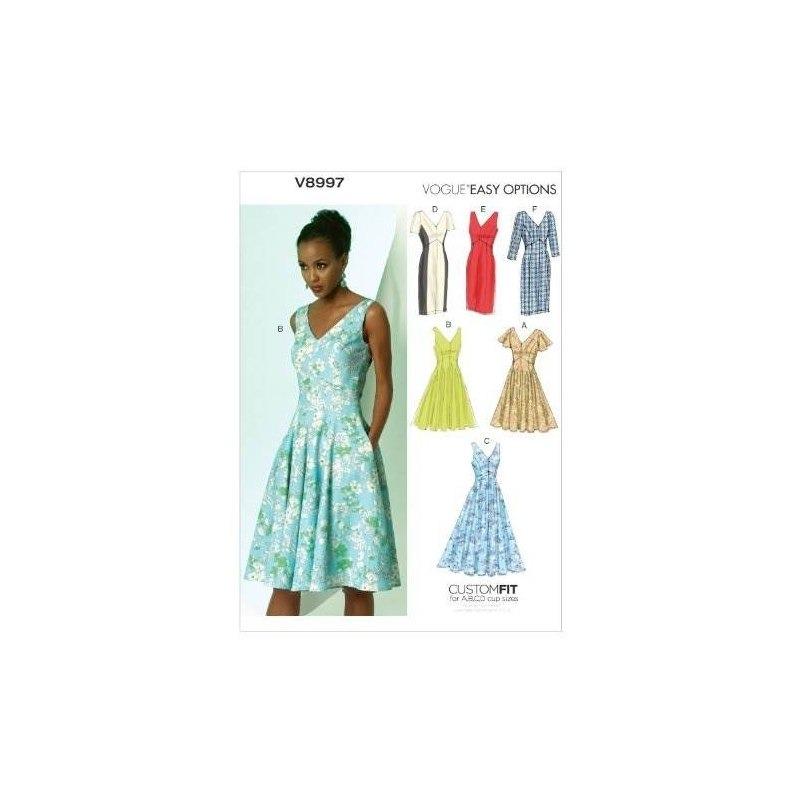 Vogue Patrones V8997 Misses Plantilla De Costura De Vestido ...