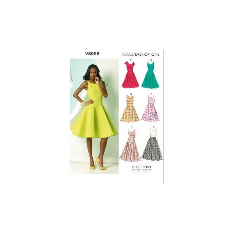 Vogue Patrones V8998 Misses Plantilla De Costura De Vestido ...