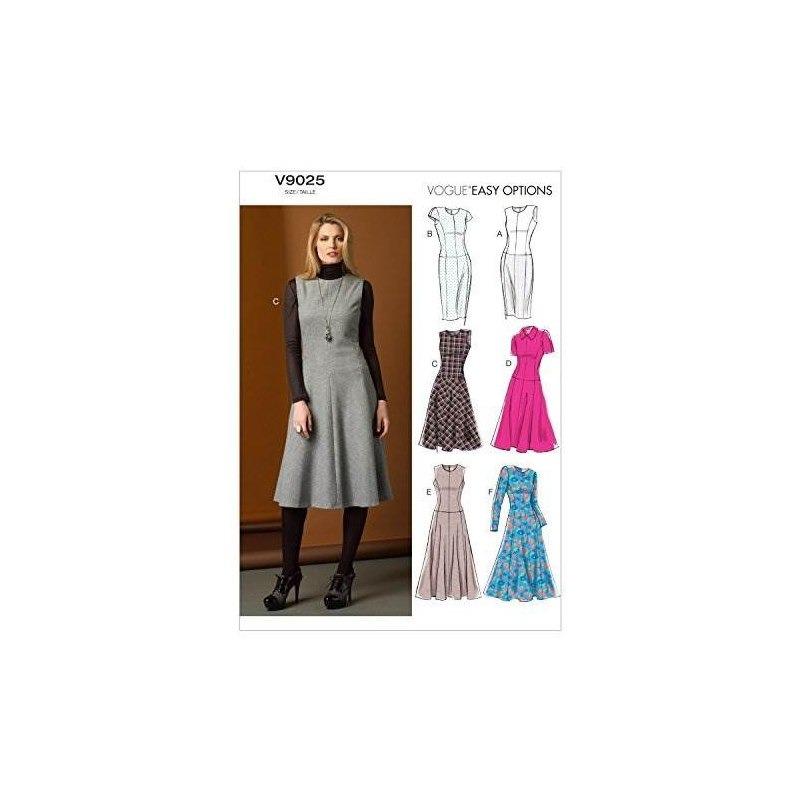 Vogue Patrones V9025 Misses / Misses Petite Dress Plantilla ...